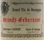 Dominique Laurent Grands Echezeaux Grand Cru  - label