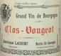 Dominique Laurent Clos de Vougeot Grand Cru  - label