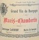 Dominique Laurent Mazis-Chambertin Grand Cru Vieilles vignes - label