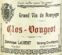 Dominique Laurent Clos de Vougeot Grand Cru Vieilles vignes - label