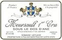 Domaine Leflaive Meursault Premier Cru Sous le Dos d'Ane - label