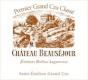 Château Beauséjour Héritiers Duffau Lagarrosse  Premier Grand Cru Classé B - label