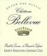 Château Bellevue  Grand Cru Classé - label