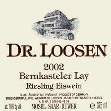 Dr. Loosen Bernkasteler Lay Riesling Eiswein - label