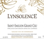 Lynsolence  Grand Cru - label