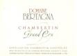 Domaine Bertagna Chambertin Grand Cru  - label