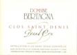 Domaine Bertagna Clos Saint-Denis Grand Cru  - label