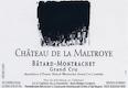 Château de la Maltroye Bâtard-Montrachet Grand Cru  - label