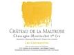 Château de la Maltroye Chassagne-Montrachet Premier Cru Les Chenevottes - label