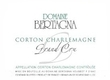 Domaine Bertagna Corton-Charlemagne Grand Cru  - label