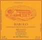 M. Marengo Barolo Brunate - label