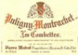 Domaine Joseph Matrot Puligny-Montrachet Premier Cru Les Combettes - label
