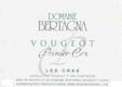 Domaine Bertagna Vougeot Premier Cru Les Cras - label