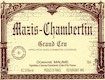 Domaine Maume Mazis-Chambertin Grand Cru  - label