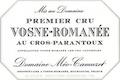 Domaine Méo-Camuzet Vosne-Romanée Premier Cru Cros Parantoux - label