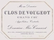 Domaine Méo-Camuzet Clos de Vougeot Grand Cru  - label