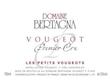 Domaine Bertagna Vougeot Premier Cru Les Petits Vougeots - label