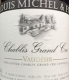 Louis Michel et Fils Chablis Grand Cru Vaudésir - label