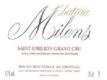 Château Milens  Grand Cru - label