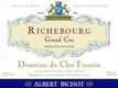Domaine du Clos Frantin Richebourg Grand Cru  - label