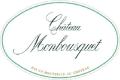 Château Monbousquet Blanc - label