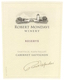 Robert Mondavi Winery Cabernet Sauvignon Reserve - label