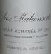 Domaine de Montille Vosne-Romanée Premier Cru Aux Malconsorts - label
