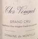 Domaine de Montille Clos de Vougeot Grand Cru  - label