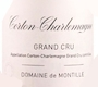 Domaine de Montille Corton-Charlemagne Grand Cru  - label