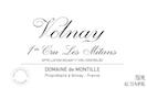 Domaine de Montille Volnay Premier Cru Les Mitans - label