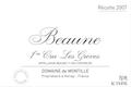 Domaine de Montille Beaune Premier Cru Grèves - label