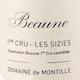 Domaine de Montille Beaune Premier Cru Les Sizies - label