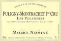 Moret-Nominé Puligny-Montrachet Premier Cru Les Folatières - label