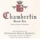 Domaine Denis Mortet Chambertin Grand Cru  - label