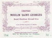 Château Moulin Saint-Georges  Grand Cru - label
