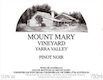 Mount Mary Pinot Noir - label