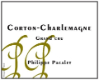 Philippe Pacalet Corton-Charlemagne Grand Cru  - label