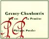 Philippe Pacalet Gevrey-Chambertin Premier Cru La Perrière - label