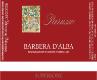 Parusso Barbera d'Alba  Superiore - label