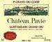 Château Pavie  Premier Grand Cru Classé A - label