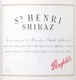 Penfolds St. Henri Shiraz - label