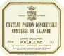 Château Pichon Longueville Comtesse de Lalande  Deuxième Cru - label