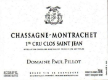 Domaine Paul Pillot Chassagne-Montrachet Premier Cru Clos Saint-Jean - label