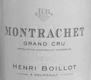 Maison Henri Boillot Montrachet Grand Cru  - label