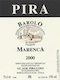 Luigi Pira Barolo Marenca - label