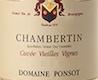 Domaine Ponsot Chambertin Grand Cru Cuvée Vieilles vignes - label