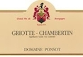 Domaine Ponsot Griotte-Chambertin Grand Cru  - label
