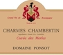 Domaine Ponsot Charmes-Chambertin Grand Cru Cuvée des Merles - label