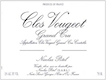 Maison Nicolas Potel Clos de Vougeot Grand Cru  - label