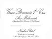 Maison Nicolas Potel Vosne-Romanée Premier Cru Aux Dessus des Malconsorts - label